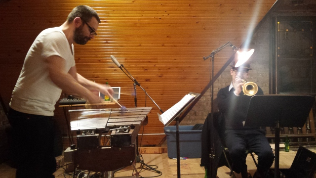 Jason Adasiewicz and Josh Berman. Rehearsal, 16 February 2017.