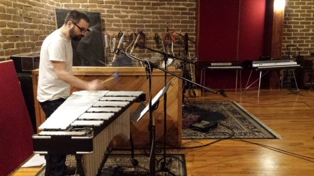 Jason Adasiewicz and Hamid Drake at Electrical Audio studios in Chicago